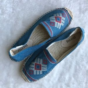 Soludos Aztec Embroidered Espadrilles Size 9